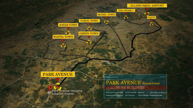 Park Avenue Lahore Map
